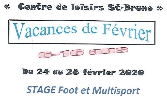 Centre de Loisirs – Vacances de février 2020