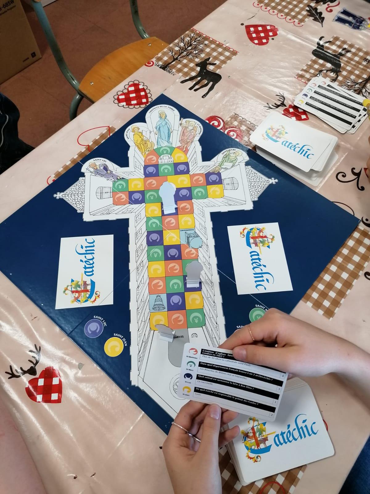 Séance jeux pour le groupe des élèves de 4e 3e de Pastorale